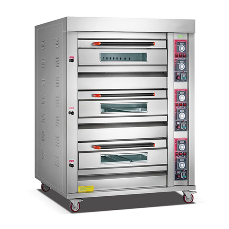 Gas Oven 3 Deck 6 Tray ROYAL